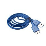 ANYLINX Cable USB 3.0 Flat 1.5M - Biru - Cable / Connector Usb