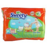 SWEETY Pants [M20] - Disposable Diapers / Popok Sekali Pakai