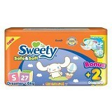 SWEETY Safe & Soft [S27+2] - Disposable Diapers / Popok Sekali Pakai