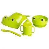 IKEA MATA 4 Piece Eating Set - Green - Perlengkapan Makan dan Minum Bayi