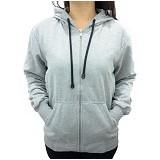 SSLAND Jaket Hoodie Wanita All Size - Grey Black Lace (V)