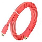 AZKALISHA Kabel HDMI Flat 5M - Merah - Cable / Connector Hdmi