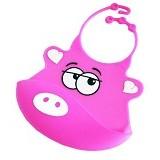 TRIPLE8 Celemek Bayi Silikon - Pink - Celemek Bayi / Bib
