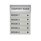 INNOGRAPH Tenant Directory 6 PCS [SNF-BSG-019] - Building Signage