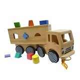 CHERIE TOYS Sorting Truck - Wooden Toy