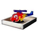 CHERIE TOYS Puzzle 3D Helikopter - Wooden Toy