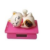 KOBUCCA SHOP Parfum Mobil Solar Cell Kucing Rejeki & Gramophone - Pengharum Mobil