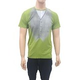 BEIBZ Vest Print Male Shirt All Size - Green (V) - Kaos Pria