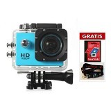 GLITZ Sport WiFi Camera GZ4000 - Blue - Camcorder / Handycam Flash Memory