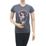 BEIBZ Ice Cream Girl Woman Shirt - Black (V) - Kaos Wanita