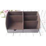 ORIGINAL ORGANIZER Desktop Stationery Organizer - Brown - Rak Serbaguna