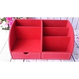 ORIGINAL ORGANIZER Desktop Stationery Organizer - Red - Rak Serbaguna