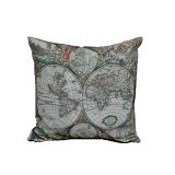 HERMOSA Bantal Sofa World Globe - Bantal Dekorasi