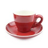 YAMI Porcelain Cup 80 ml - Red - Gelas