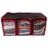 RADYSA Cloth Multifunction Organizer - Black - Container