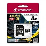 TRANSCEND MicroSDHC 8GB Ultimate 600x [TS8GUSDHC10U1] - Micro Secure Digital / Micro SD Card