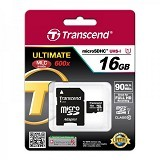 TRANSCEND MicroSDHC 16GB Ultimate 600x [TS16GUSDHC10U1] - Micro Secure Digital / Micro SD Card