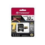 TRANSCEND MicroSDHC 32GB Ultimate 633x [TTS32GUSDU3] - Micro Secure Digital / Micro SD Card