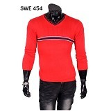 GUDANG FASHION Sweater Motif Garis di Tengah [SWE 454] - Merah