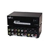 ANYLINX Video Audio/RCA Splitter 1 To 4 - Hitam - Digital Video Converter