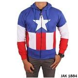 GUDANG FASHION Jaket Captain America Keren [JAK 1884] - Biru Kombinasi - Jaket Casual Pria