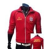 GUDANG FASHION Jaket Bola FC Bayern Munchen Style Modis [JBL 454]- Red - Jaket Casual Pria