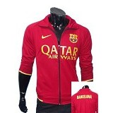 GUDANG FASHION Jaket Bola FC Barcelona [JBL 468] - Red - Jaket Casual Pria