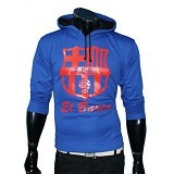 GUDANG FASHION New Fashion Jaket Bola Barcelona Sporty [JBL 543] - Blue