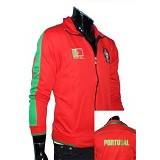 GUDANG FASHION Jaket Bola Club Team Portugal [JBL 558] - Red - Jaket Casual Pria