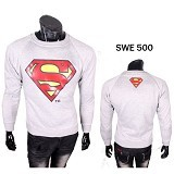 GUDANG FASHION Sweater Superman [SWE 500] - Putih - Sweater / Cardigan Pria