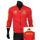 GUDANG FASHION Jaket Bola Spain Sporty [JBL 590] - Red - Jaket Casual Pria