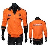 GUDANG FASHION Jaket Bola Club Team Netherland [JBL 621]- Orange - Jaket Casual Pria