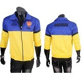 GUDANG FASHION Jaket Bola Arsenal [JBL 643] - Blue Yellow - Jaket Casual Pria