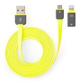 RIDISTA Kabel USB 2 in 1 Micro to iPhone [G239] - Kuning - Cable / Connector Usb