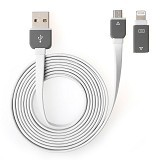 RIDISTA Kabel USB 2 in 1 Micro to iPhone [G239] - Putih - Cable / Connector Usb
