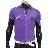 GUDANG FASHION Kaos Kerah dengan Saku [FP 157] - Purple - Polo Pria