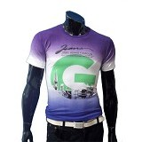 GUDANG FASHION Kaos Motif Warna Degrasi [FP 348] - Purple - Kaos Pria