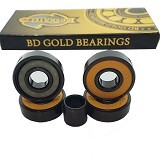 BDSKATECO Skate Rated - Gold - Papan Skateboard & Aksesoris