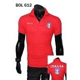 GUDANG FASHION Kaos Kerah Bola Italia [BOL 612] - Merah - Polo Pria