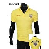 GUDANG FASHION Kaos Kerah Bola England Trend Masa Kini dan Berkualitas [BOL 621] - Kuning - Polo Pria