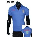 GUDANG FASHION New Trendy Kaos Kerah Bola Brazil [BOL 630] - Biru - Polo Pria