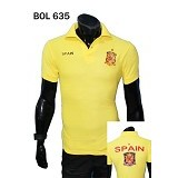 GUDANG FASHION Kaos Kerah Bola Spain Fashionable dan Simple [BOL 635] - Kuning - Polo Pria