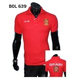 GUDANG FASHION Kaos Kerah Bola Spain Lengan Pendek dan Simple [BOL 639] - Merah - Polo Pria