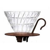 HARIO Dripper V60 Glass [VDGN-02CBR] - Mesin Kopi Manual