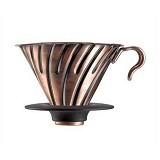 HARIO Dripper V60 [VDM-02CP] - Metal - Mesin Kopi Manual