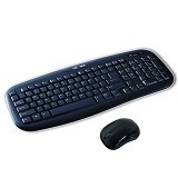LEXMA Cordless Keyboard + Mouse Set [LS6411R] - Black - Keyboard Mouse Combo