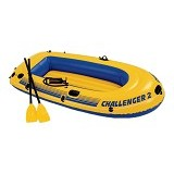 INTEX Challenger 2 Boat Set [68367] - Yellow - Aksesoris Renang