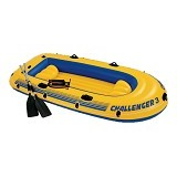 INTEX Challenger 3 Boat Set [68370] - Yellow - Aksesoris Renang
