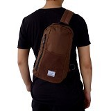 FASHIONLIZIOUS Waistbag 231 [W231BW] - Brown - Tas Pinggang/Travel Waist Bag