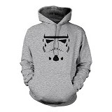 JERSICLOTHING Unisex Hoodie Star Wars Trooper  Velvet/Flock Print Size L - Grey